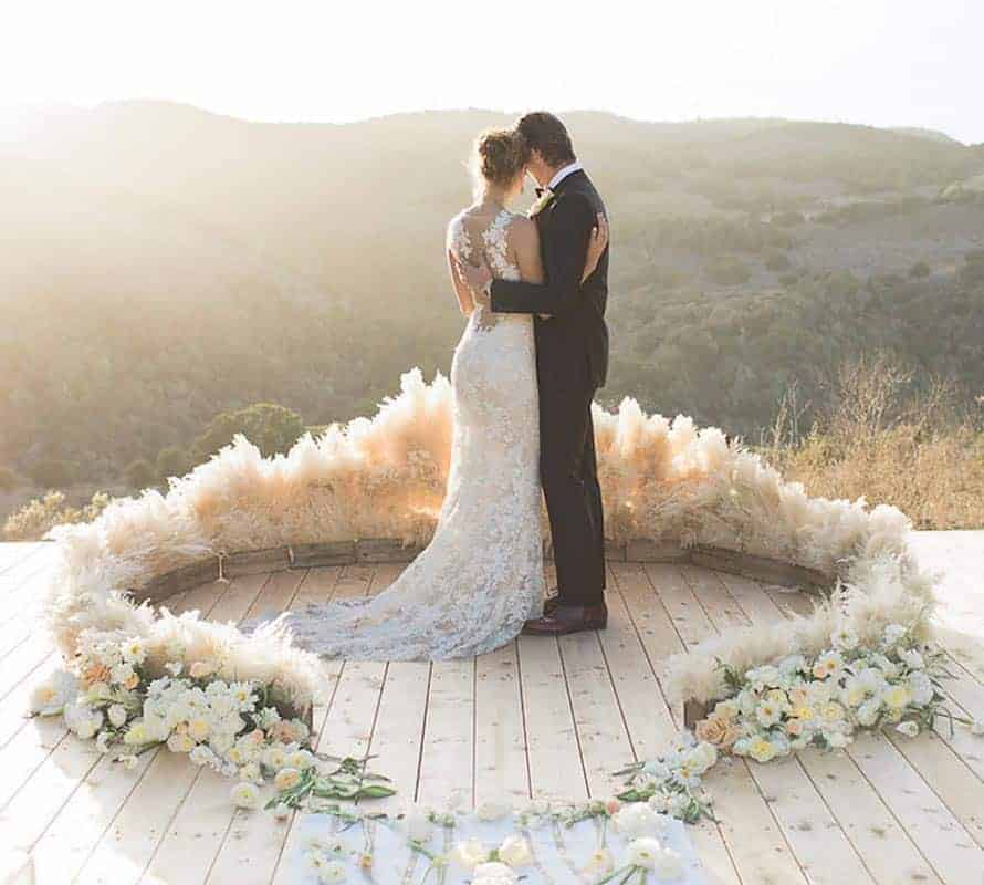 Pampas Grass Ceremony Circles Made Easier