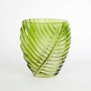 Palm Leaf Green Vase