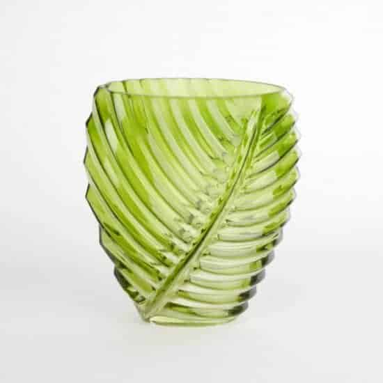 Palm Leaf Green Vase