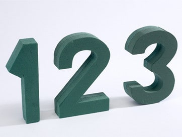 Foam Numbers & Letters
