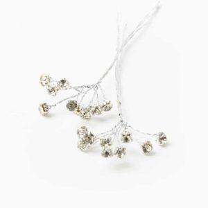 Diamante Spray – Clear On Silver – 6mm