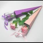 FLOWER BOX SINGLE ROSE 42cm