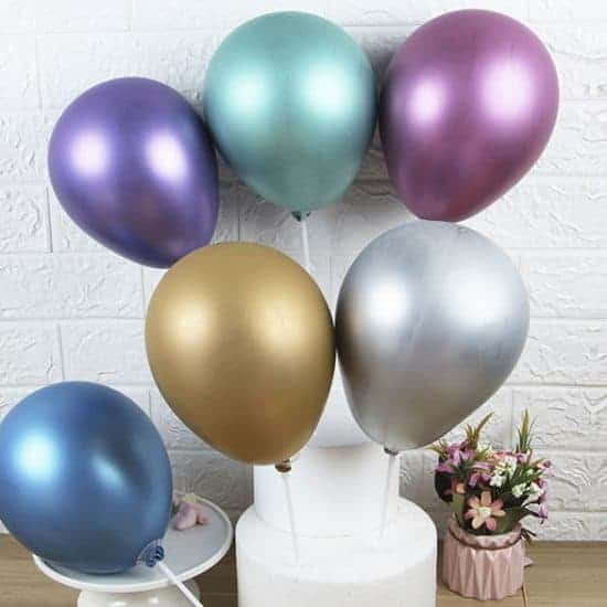 Balloons Mixed Metallic Colours