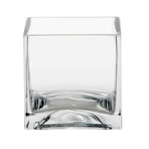 Glass Cube - Clear - 10cm