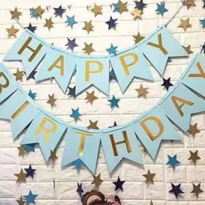 Birthday Bunting - Blue