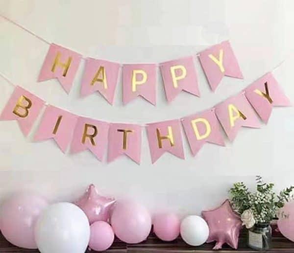 Birthday Bunting - Pink
