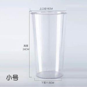 Round Plastic Transparent Flower Tub