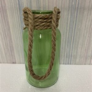 Martha Jar – Green with rope handle